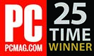 PC MAG -  25 TIMES WINNER