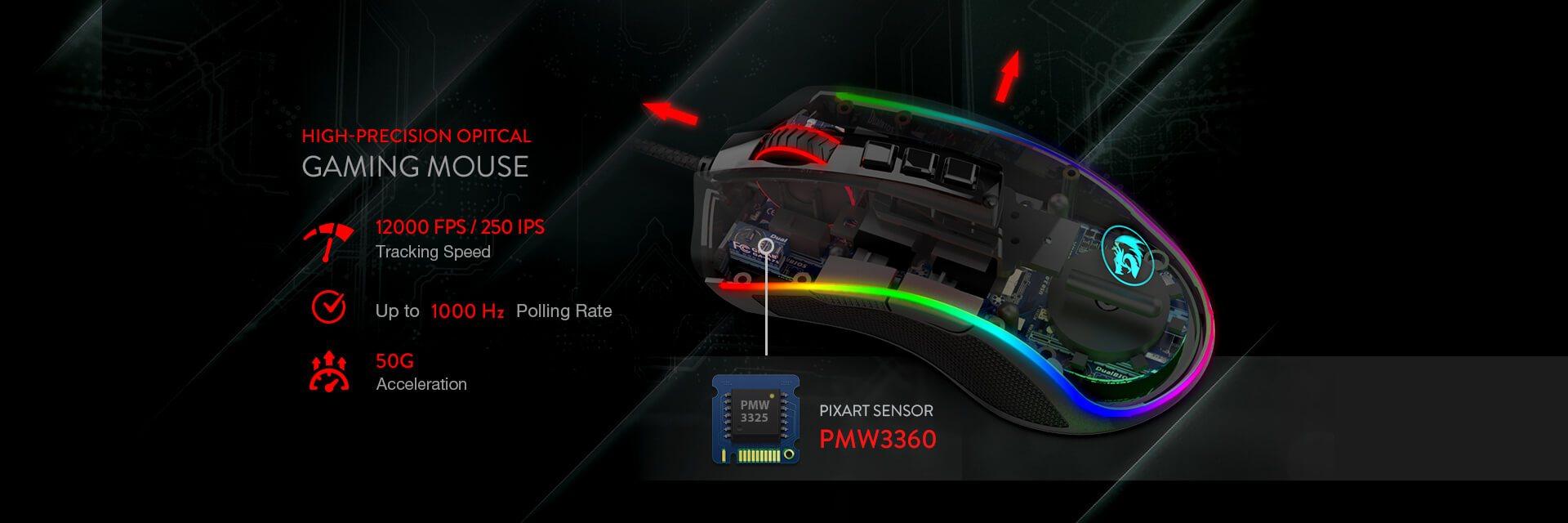 redragon m711-fps cobra sensor