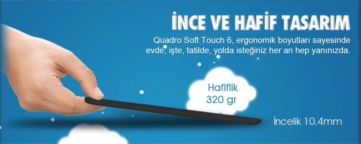 quadro, soft touch, softtouch, soft touch 6, android tablet, 7 inç, 7 inch, 7""